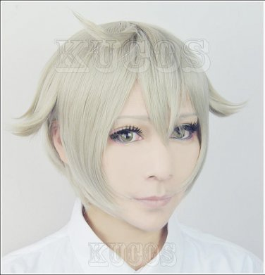 Furari no ken Touken Ranbu Online Hotarumaru short green anime cosplay wig+free shipping