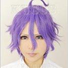 Furari no ken Touken Ranbu Online Kasenkanesada short purple anime cosplay wig+free shipping