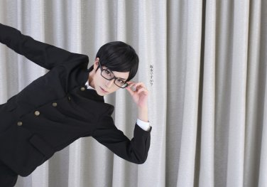 Haven't You Heard? I'm Sakamoto black cos wig+free shipping+Free Wig Cap