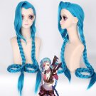 Jinx blue 120cm cos wig+free shipping+Free Wig Cap