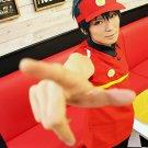 Hataraku Mao-sama! Satan Jacob dark green Cos wig+free shipping+Free Wig Cap