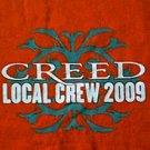 Creed local crew 2009 orange concert tour shirt size xl new