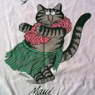 vintage Kliban Maui hula cat Crazy shirt size large