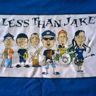 LESS THAN JAKE CARICATURE CARTOON  SHIRT MEDIUM
