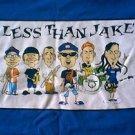 Less Than Jake blue caricature cartoon shirt size medium