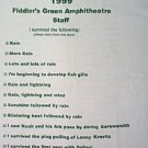 Fiddlers Green Amphitheatre Englewood Colorado 1999 staff concert tour shirt size xl new