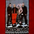 Gwen Stefani No Doubt 2002 Rock Steady concert tour shirt red size large long sleeved