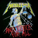 METALLICA 1994 AND JUSTICE FOR ALL HAMMER CRUSHES YOU SHIRT XL