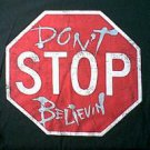 Journey Steve Perry Don't Stop Believin song lyrics shirt size large