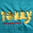 The Who's Tommy On Broadway embroidered turquoise shirt size large