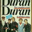 vintage 1982 Duran Duran The Official Lyric Book
