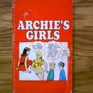 THE ARCHIES ARCHIE'S GIRLS 1970 BANTAM PAPERBACK BOOK