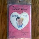 Love Is By KIM sealed 1970 counted cross stitch kit Millcraft Inc.