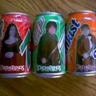 THE LORD OF THE RINGS THE TWO TOWERS 2003 EMPTY 7-UP & SUNKIST SODA POP CANS