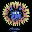 Crazy Shirts Hawaii Kliban cat sunflower shirt xl