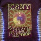 CSNY Crosby Stills Nash & Young Freedom Of Speech 2006 tie dye concert tour shirt large