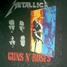 Metallica Guns N Roses Faith No More 1992 concert tour shirt xl