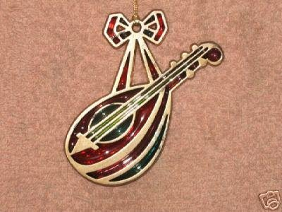 AVON MANDOLIN SNOW FANTASY ORNAMENT!