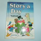 Disney Story A Day Book For Winter Grolier Hard Cover 1987 Walt Disney Company