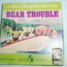 Super 8 mm Disney Bear Trouble Nature Film In Box Black And White Home Movie Film Red Plastic Reel