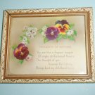 Thoughts Of Mother Vintage Motto Framed Pansies Flowers By Picture Frame CO
