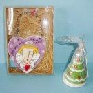 Sandra Magsamen Angel Heart Ornament and Christmas Tree Shaped Ornament