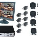 8CH DVR COMPLETE SYSTEM, 8 WIRED