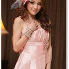 Free Shipping Bridesmaid dress suspenders lantern skirt dress mini dress D2J148P