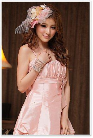 Free Shipping Bridesmaid dress suspenders lantern skirt dress mini dress D2J148P