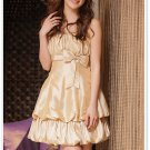 Free Shipping Bridesmaid dress suspenders lantern skirt dress mini dress D2J148C