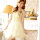 Free Shipping Strapless single suspenders formal dress plus size dress Champagne D2J912C