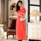 Beau was thin Ruffled Sleeve Austrian Diamond Long evening gown Plus Size Dresses D2J621OR