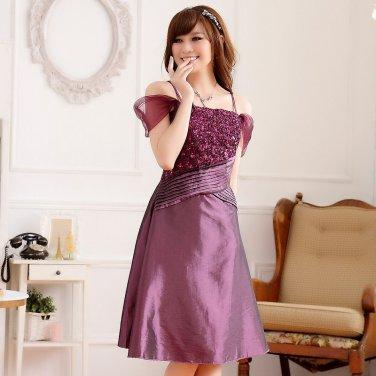Free Shipping fashion ladies plus size shoulder straps across dual crimp dress D2J629P