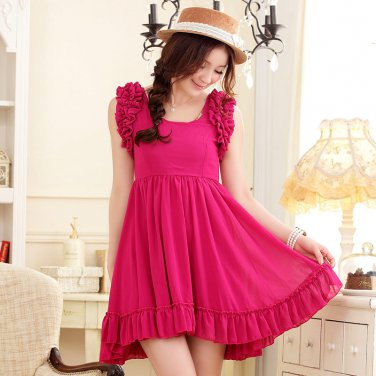 Free Shipping Barbie princess waist elegant chiffon dress size from S-3X D2J209R