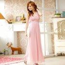 Free Shipping ladies fashion dress beaded chiffon plus size evening gown dress D2J634P