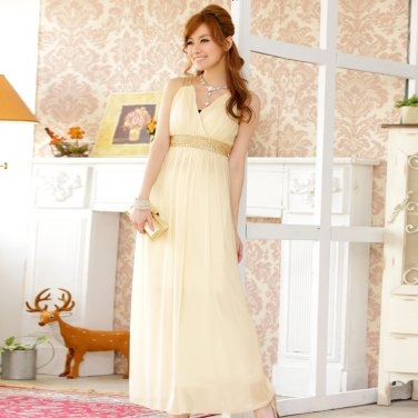 Free Shipping ladies fashion dress beaded chiffon plus size evening gown dress D2J634C