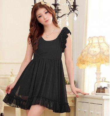Free Shipping Barbie princess waist elegant chiffon dress size from S-3X D2J209B