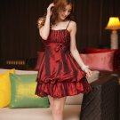 Free Shipping Bridesmaid dress suspenders lantern skirt dress mini dress D2J148RW