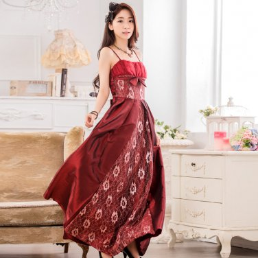 Free Shipping Women suspenders strapless evening gown plus size dress D2J660RW