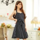 Free Shipping women plus size V-neck halter dress D2J656BK
