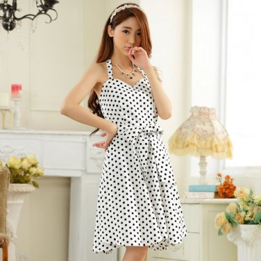 Free Shipping women plus size V-neck halter dress D2J656W