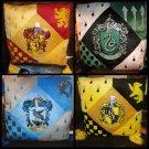 Harry Potter HOGWARTS HOUSE PILLOW SET Gryffindor Slytherin Ravenclaw Hufflepuff