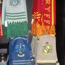 Wizarding World of Harry Potter Crest Quidditch Scarves Set Lot Hogwarts - NEW!