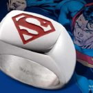Superman Stainless Steel Emblem Ring with Red DC Noble Collection Man of Steel