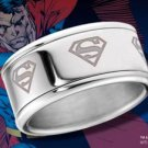 Superman Spinning Ring DC Noble Collection Man of Steel Stainless Steel