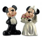 Mickey and Minnie Mouse Wedding Salt and Pepper Shakers Walt Disney World Parks