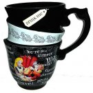 Disney World Parks Alice Mad Hatter Triple Stacked Tea Cup Coffee Mug
