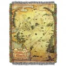 The Hobbit Middle Earth Map Tapestry Throw Blanket 48 by 60 Lord of the Rings