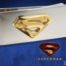 Superman Stainless Steel 24k Gold Money Clip DC Comics Man of Steel Noble