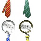 Harry Potter Tie Keychain Choice of Hogwarts House Wizarding World Universal